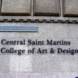 Ana Stojadinovic gives lecture at Central Saint Martins College of Art and Design