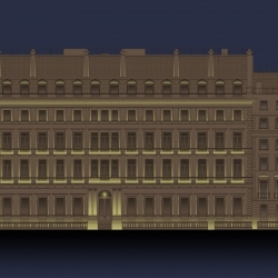 External Façade Lighting Concept completed for One Palace Street