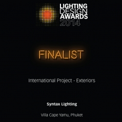 Villa Cape Yamu – Lighting Design Awards 2014 Finalist